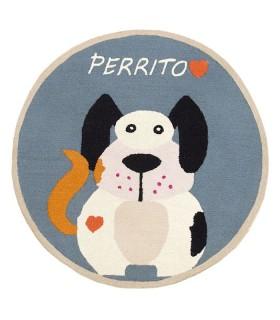 Alfombras Infantiles - INFANTIL PERRITO REDONDA (1)