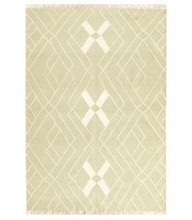 Kilim Dhurrie - KILIM DHURRIE GREEN/WHITE (1)