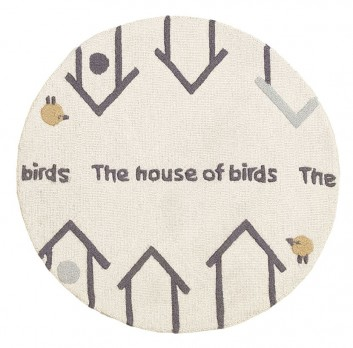 Alfombras Infantiles - INFANTIL THE HOUSE OF BIRDS REDONDA (1)