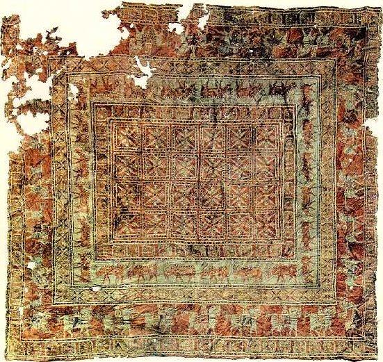 Pazyrykfull alfombra antigua