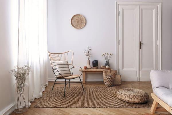 décor naturel avec des tapis