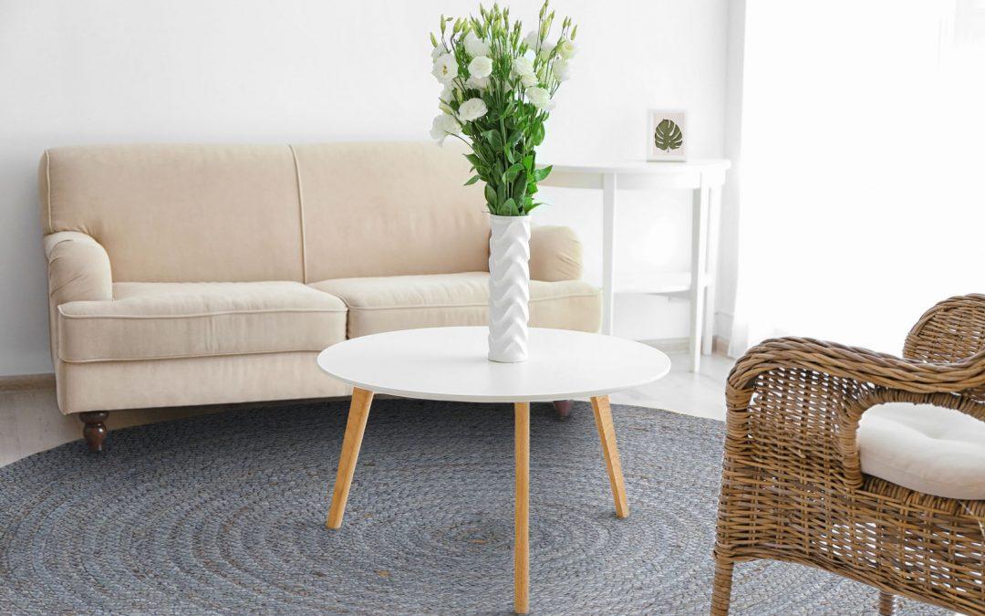 Alfombras modernas para salon free saln con dos mesas de Alfombra redonda morada