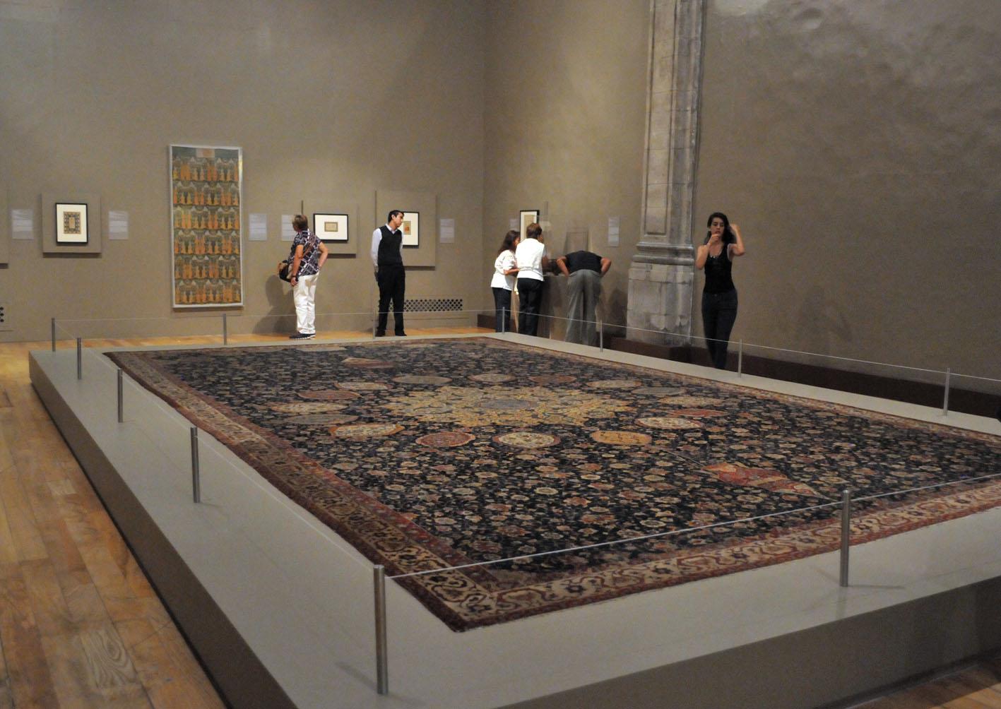 alfombra ardabil antigua