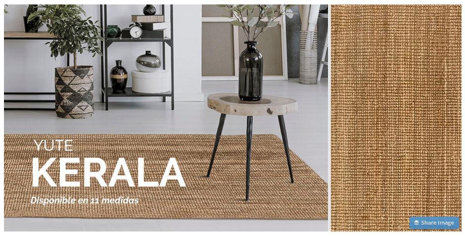 colección alfombras de yute