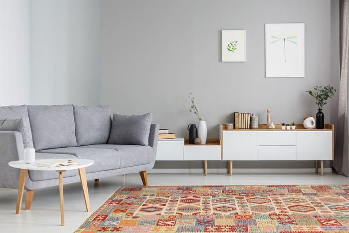 salon décoré de kilim de tapis hamid